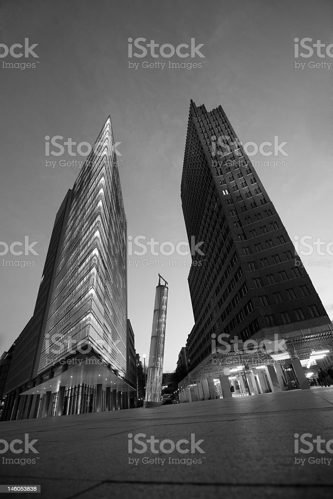 Berlin Podtsdamer Platz stock photo