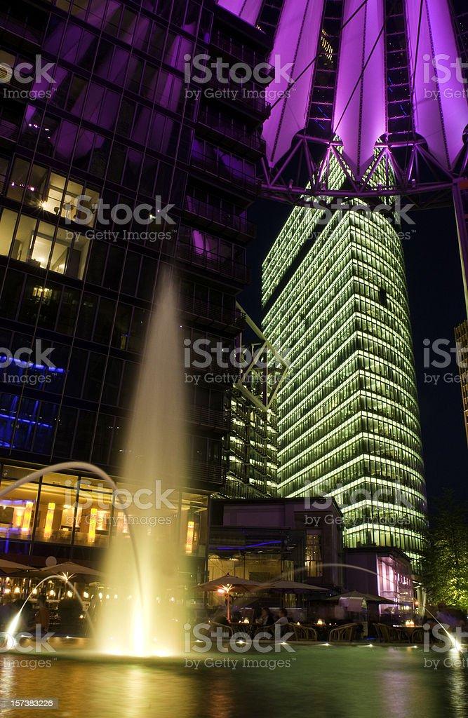 Berlin Potsdamer Platz illuminated royalty-free stock photo