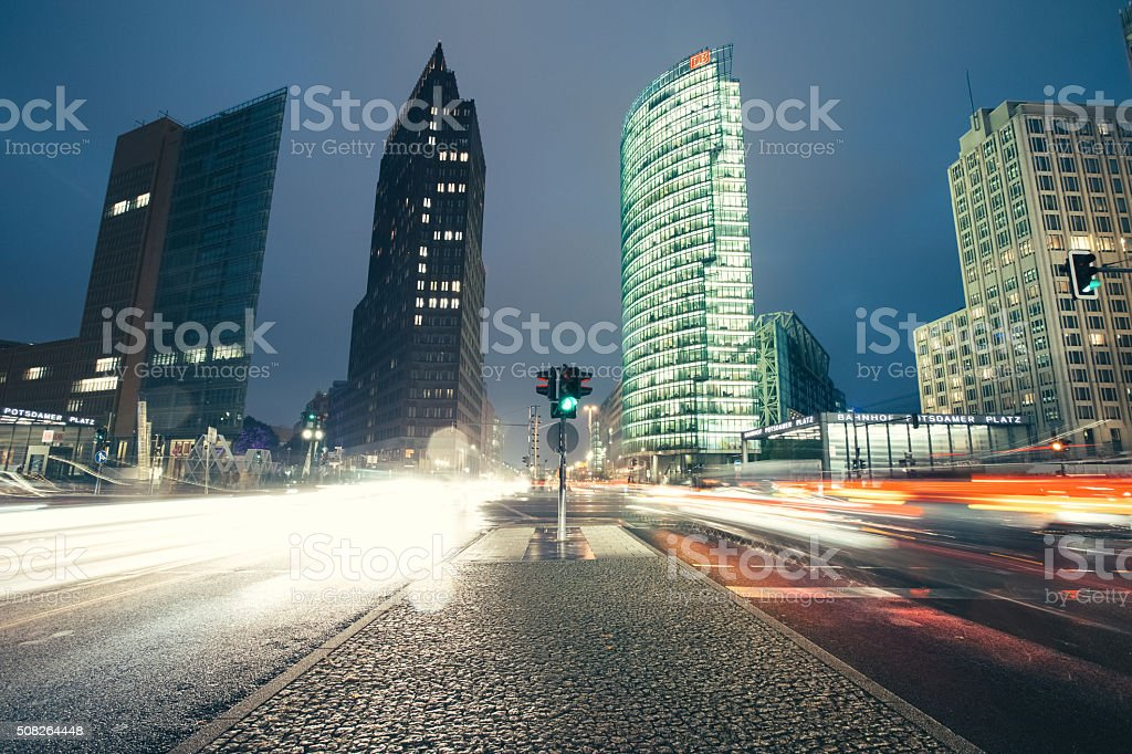 Berlin Potsdamer platz stock photo