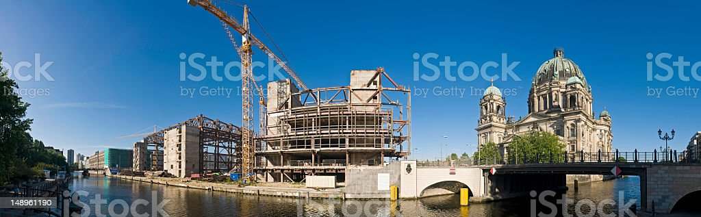Berlin redevelopment River Spree royalty-free stock photo
