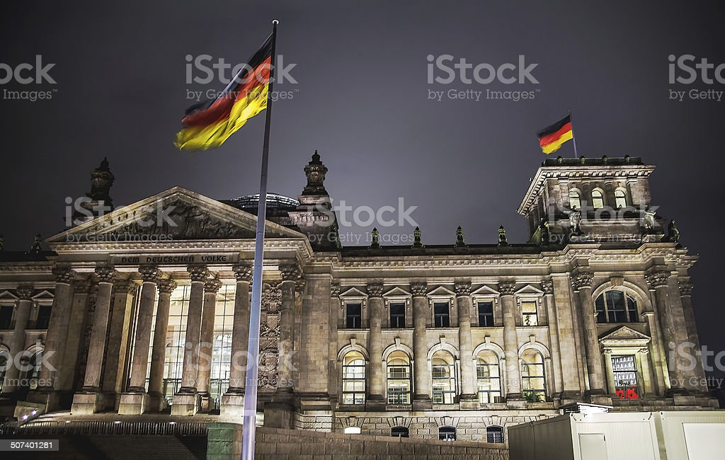 Berlin Reichstag Building stock photo