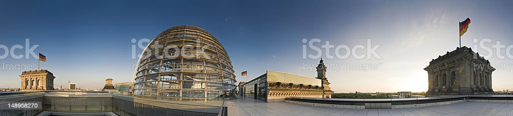 Berlin Reichstag dome panorama stock photo