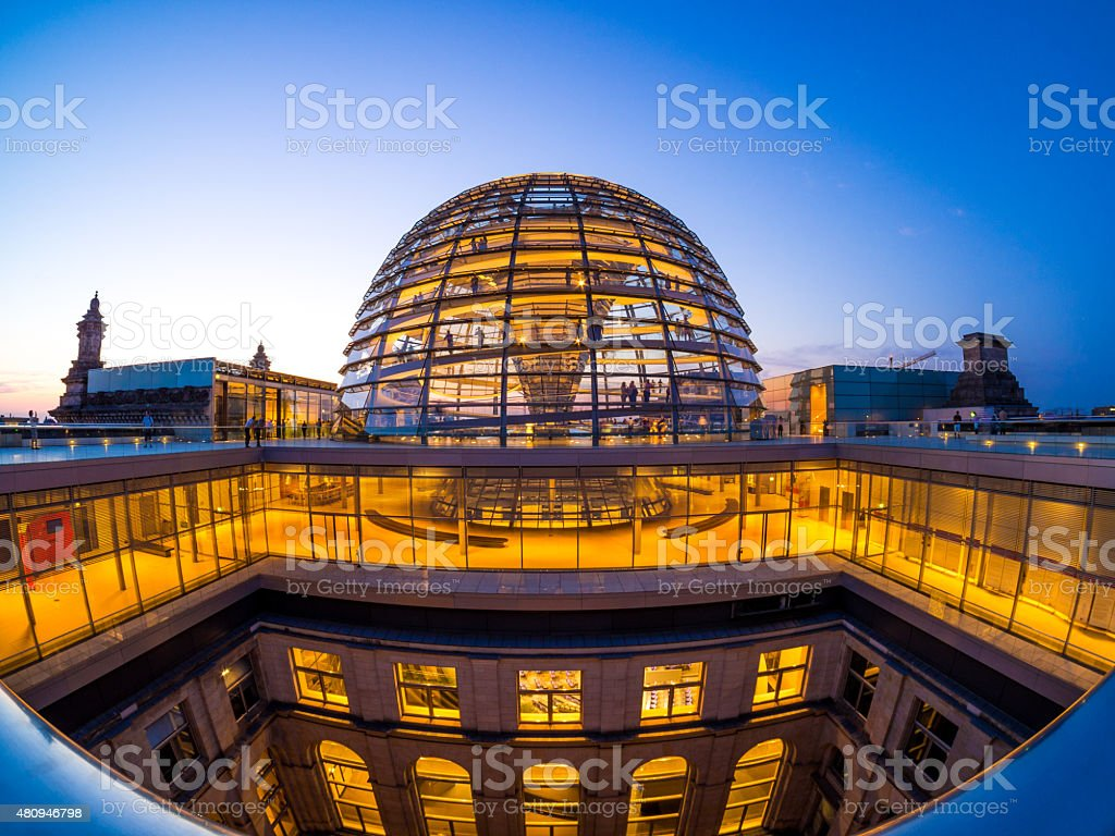 Berlin - Reichstag Dome stock photo