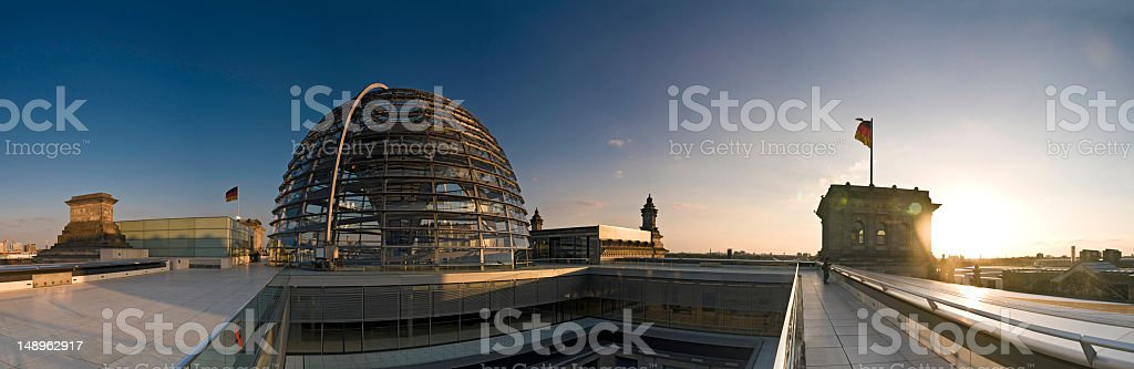 Berlin Reichstag sunset panorama royalty-free stock photo