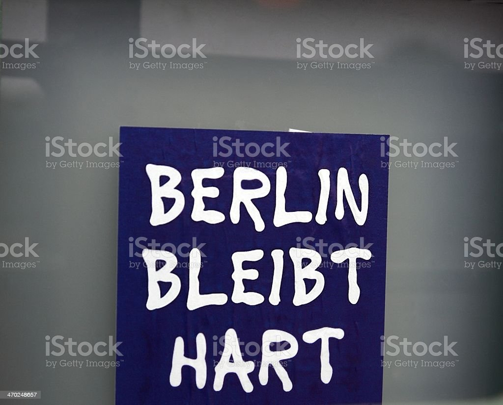 Berlin remains hard stock photo