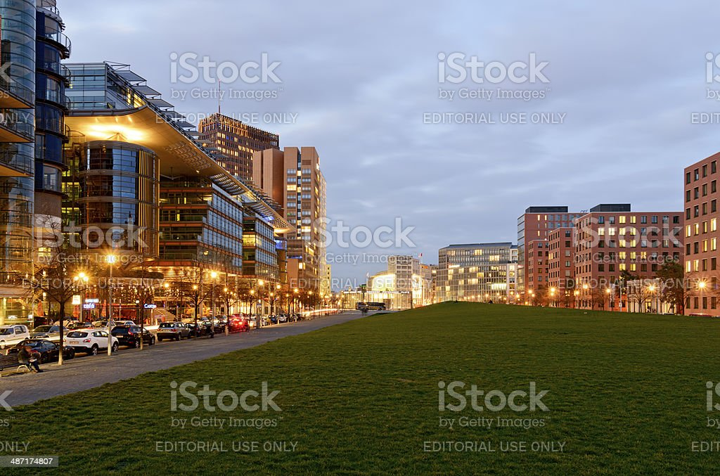 Berlin - Residential and commercial buildings at Potsdamer Platz royalty-free stock photo