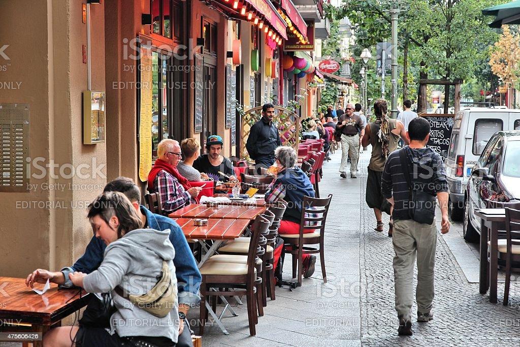 Berlin restaurants stock photo