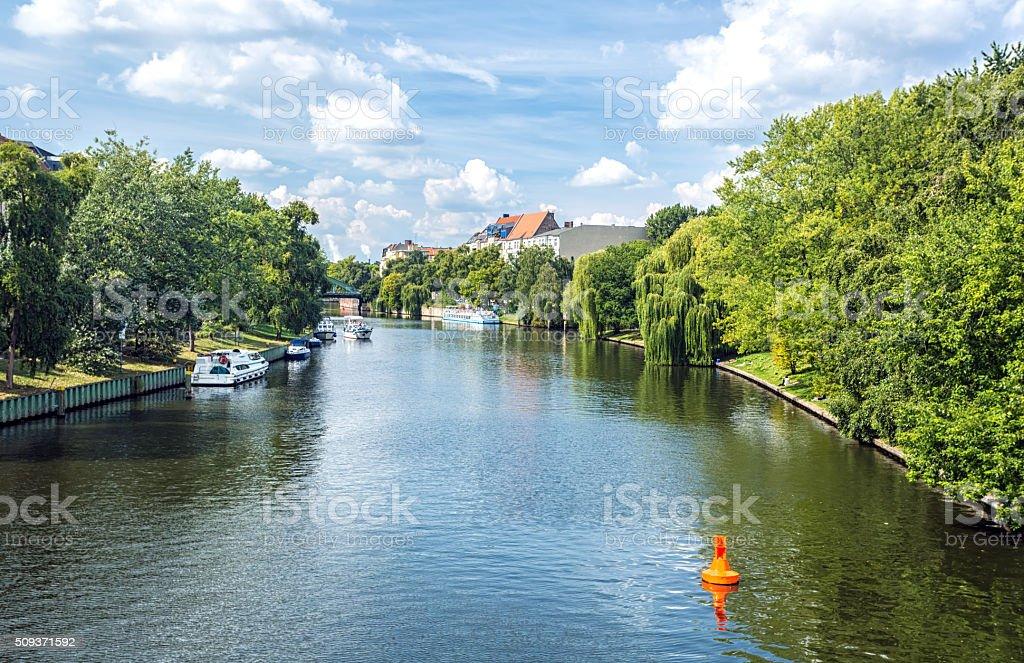 Berlin River Spree stock photo