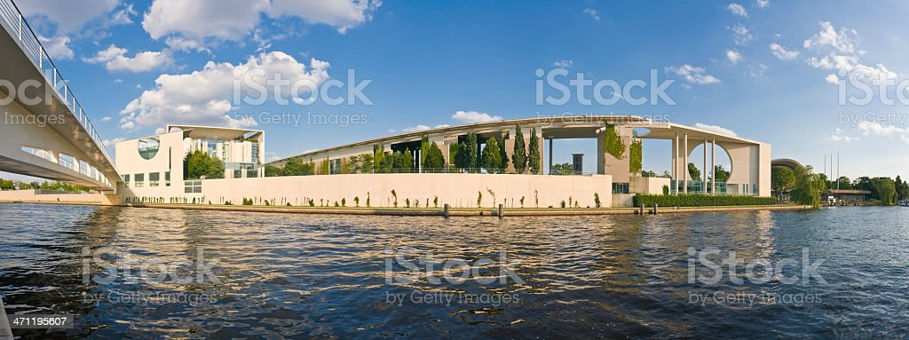 Berlin River Spree summer panorama royalty-free stock photo