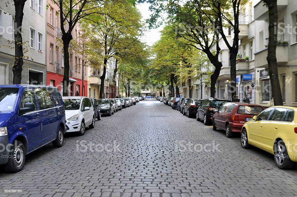 Berlin road stock photo
