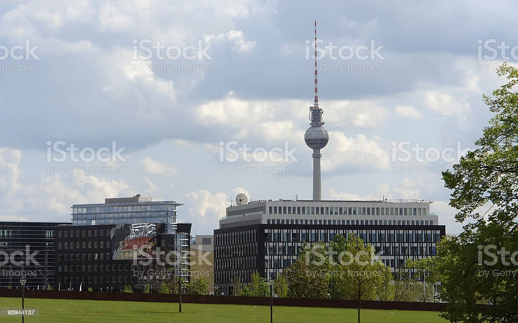 Berlin scenery with television tower royalty-free stock photo