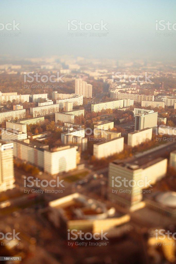 Berlin Seen from Above, Friedrichshain Quarter royalty-free stock photo
