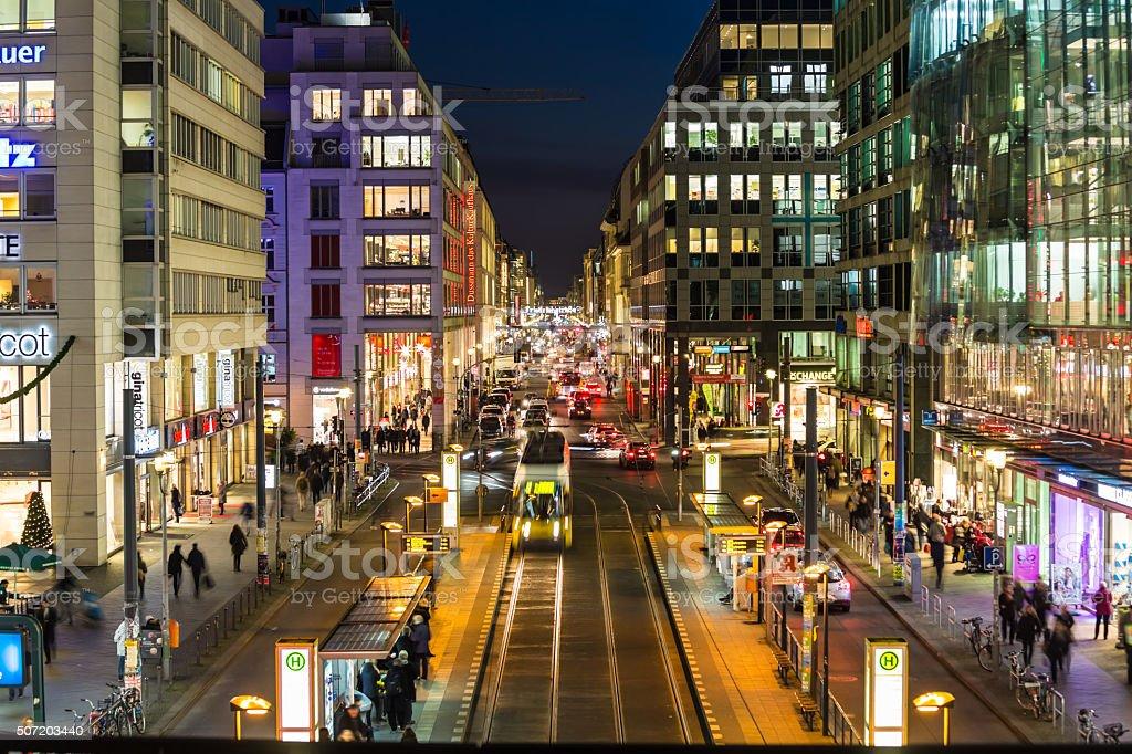 Berlin Shopping Street stock photo
