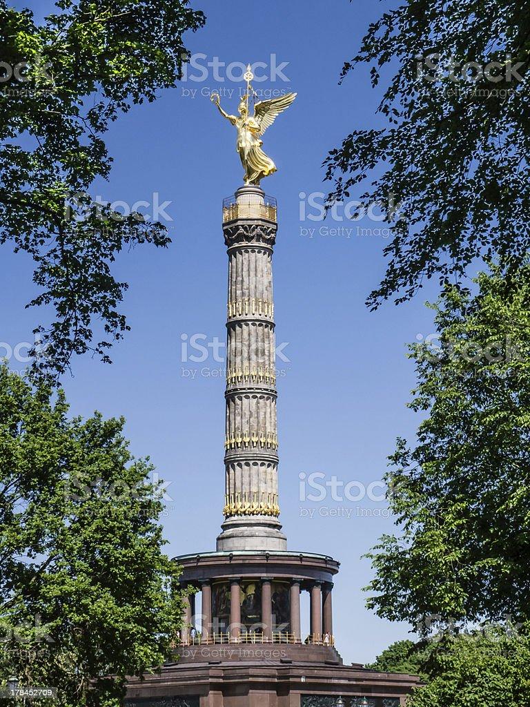berlin siegess?ule stock photo