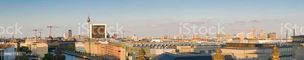 Berlin skyline cityscape royalty-free stock photo