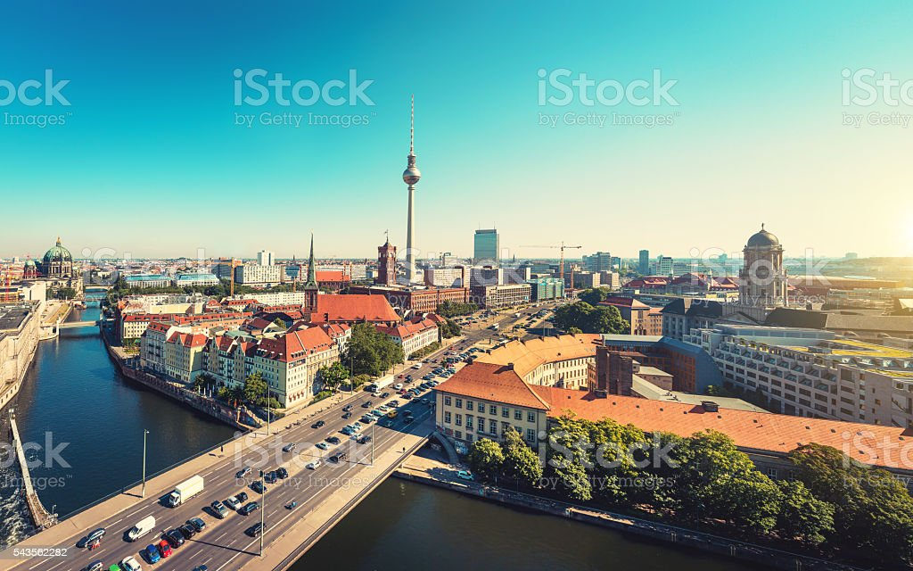 Berlin Skyline stock photo