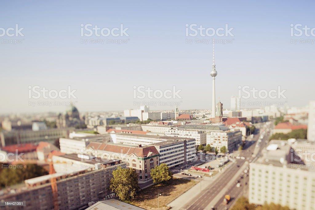 Berlin skyline with radio tower stock photo