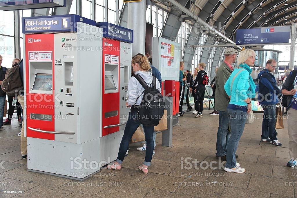 Berlin station stock photo