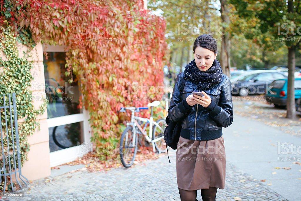 Berlin street style portrait stock photo