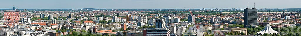 Berlin suburbs and cityscape royalty-free stock photo