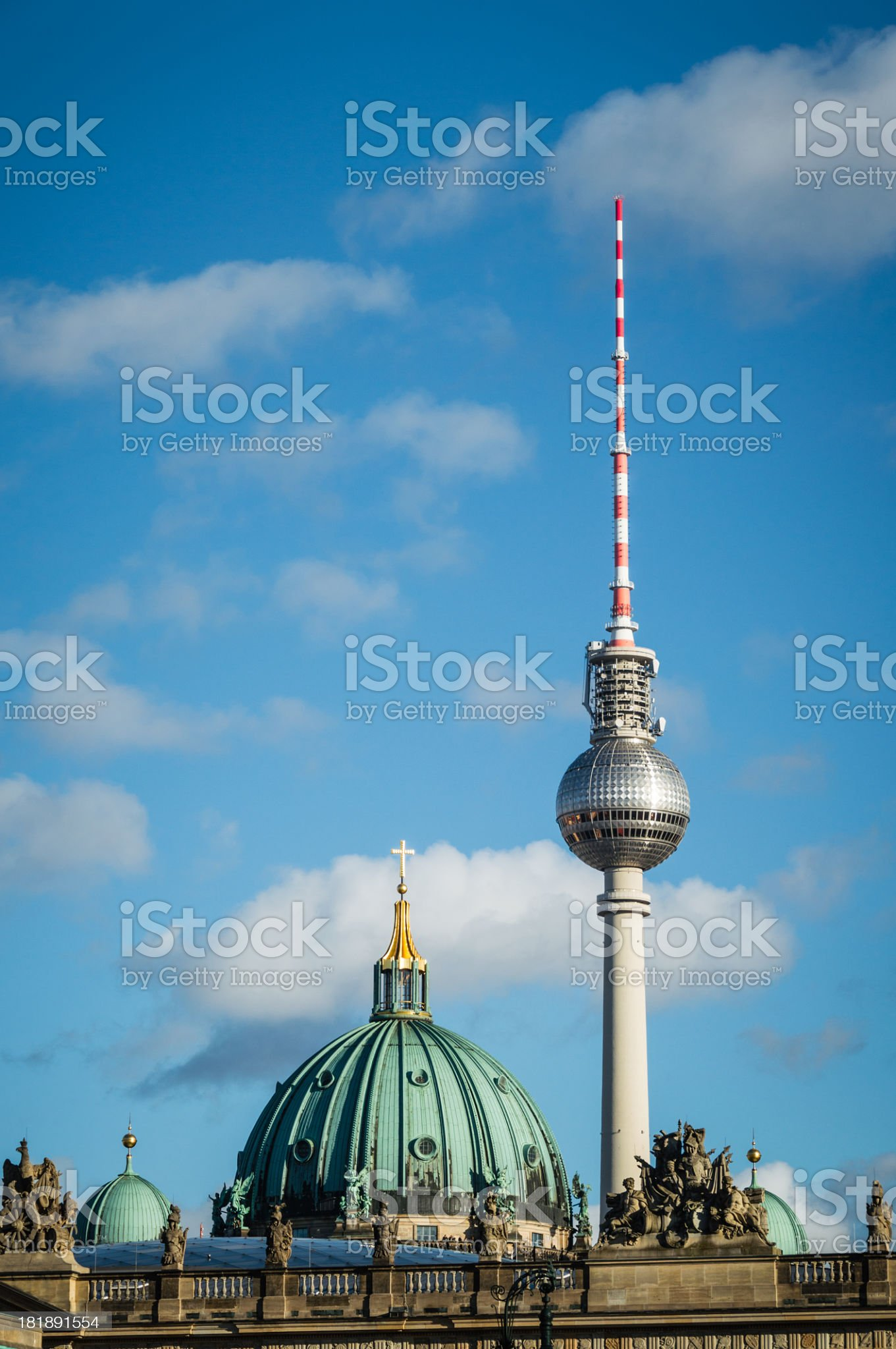 Berlin Television Tower royalty-free stock photo