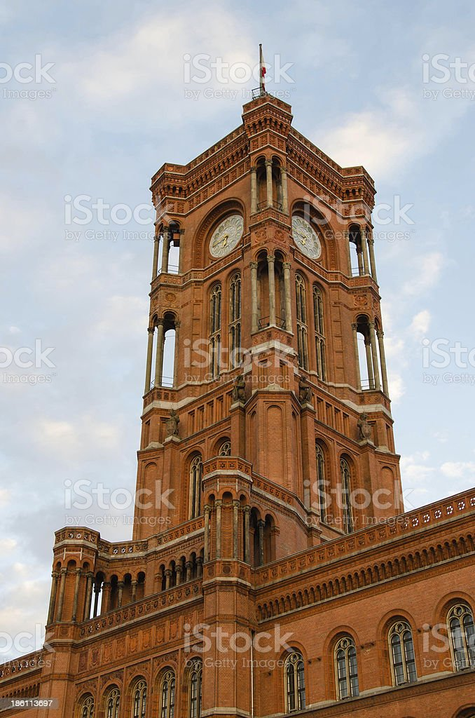 Berlin Town Hall (Rotes Rathaus) royalty-free stock photo