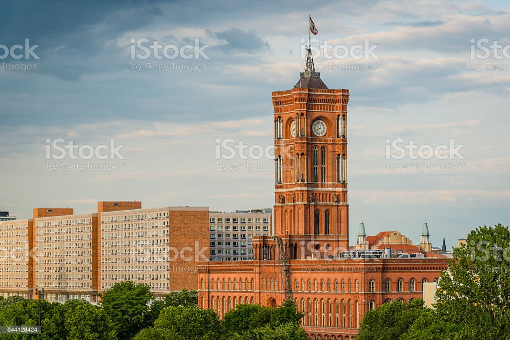 Berlin Townhall Rotes Rathaus Berlin Germany stock photo