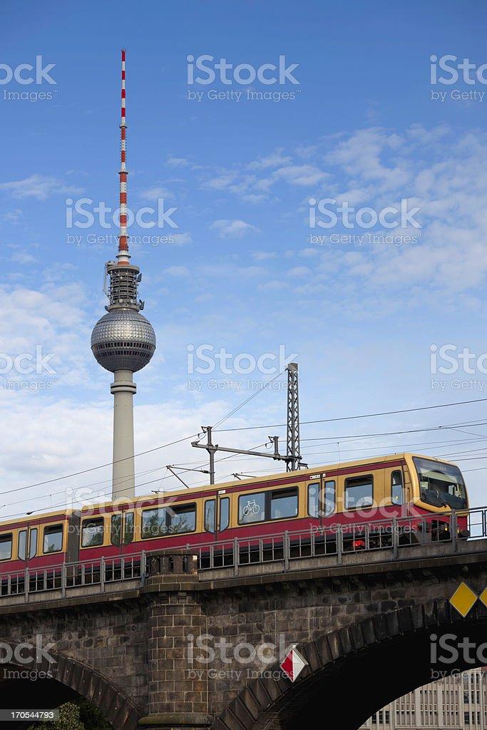Berlin train stock photo