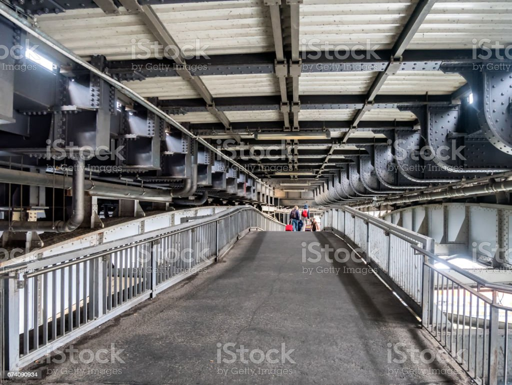 Berlin train station bridge at Friedrichstrasse, Germany stock photo