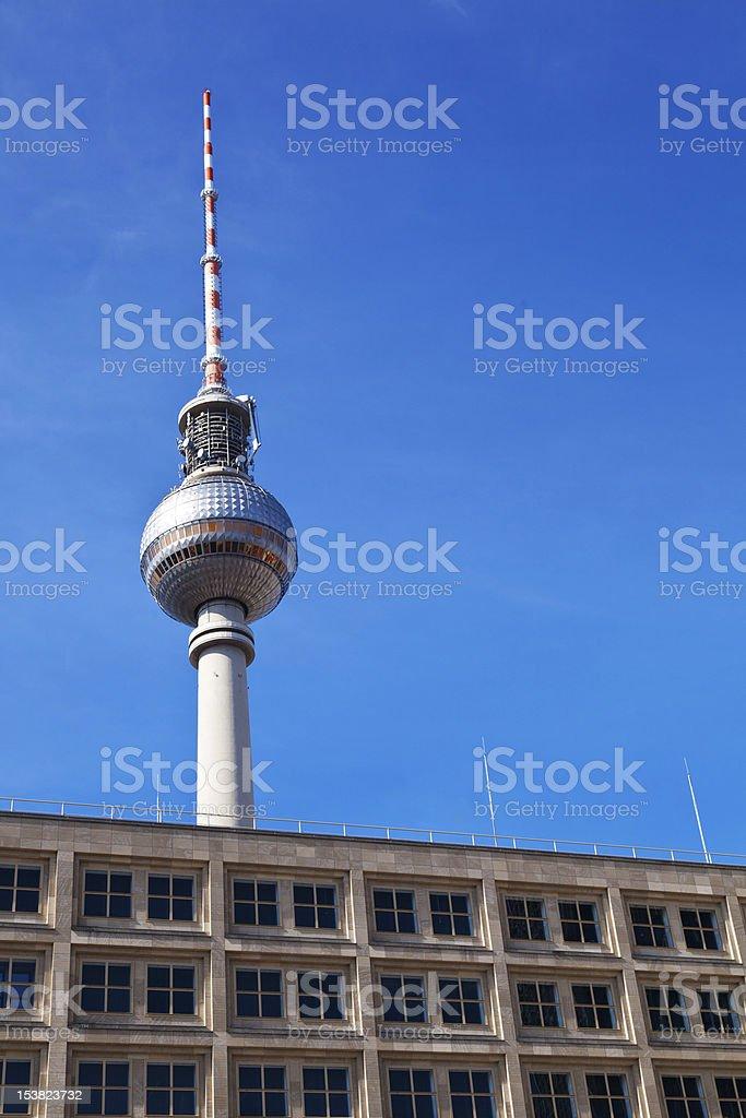 Berlin TV Tower from Alexanderplatz royalty-free stock photo