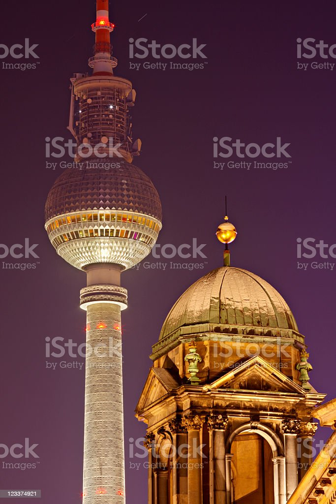 Berlin TV Tower royalty-free stock photo