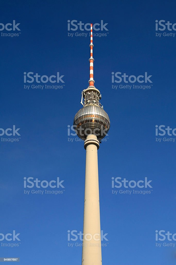 Berlin tv tower royalty-free stock photo
