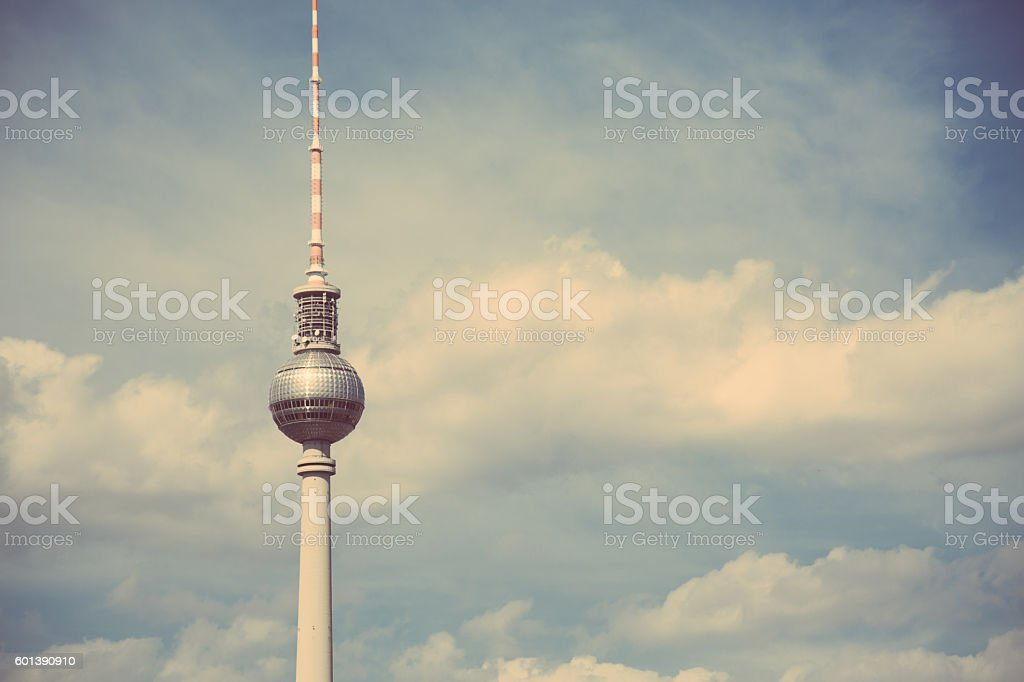 Berlin TV Tower - The Fernsehturm stock photo