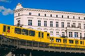 Berlin Underground trains in Kreuzberg