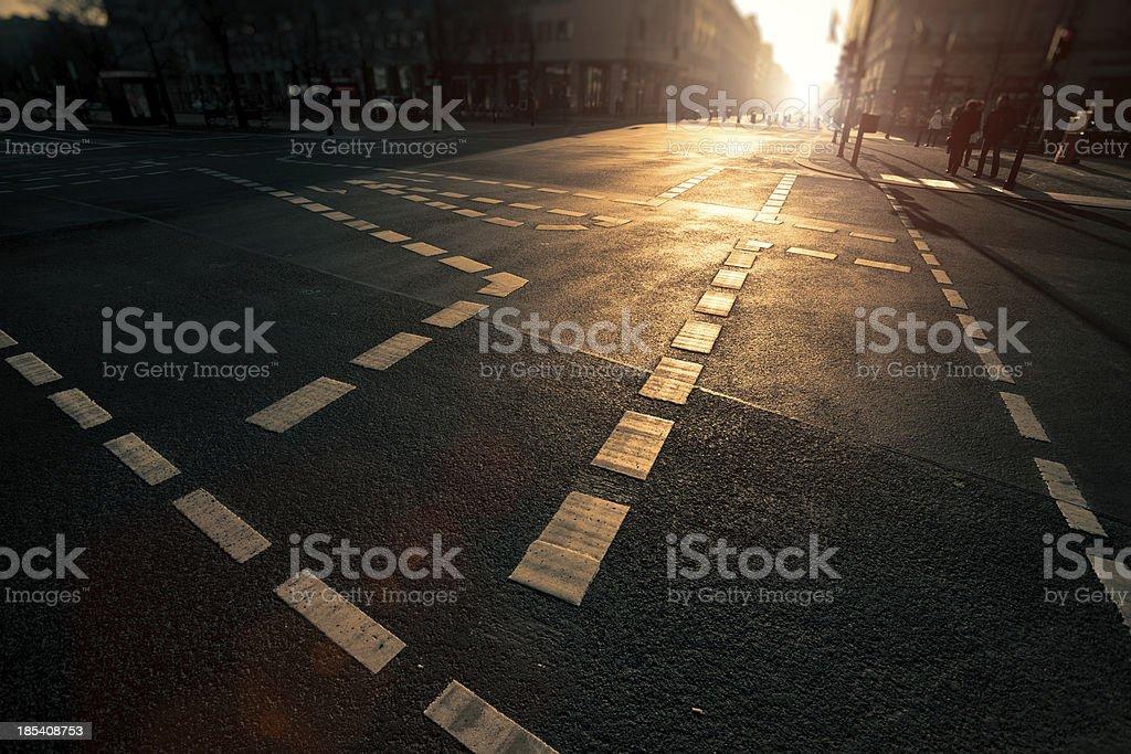 Berlin Urban Scene at Sunset stock photo