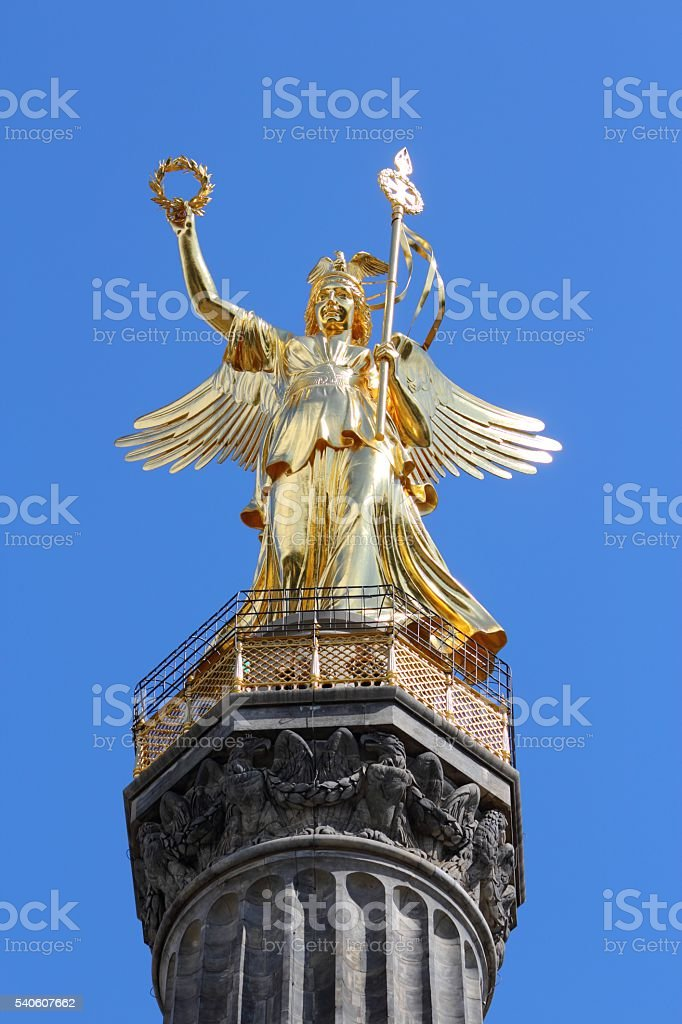 Berlin Victory Column stock photo