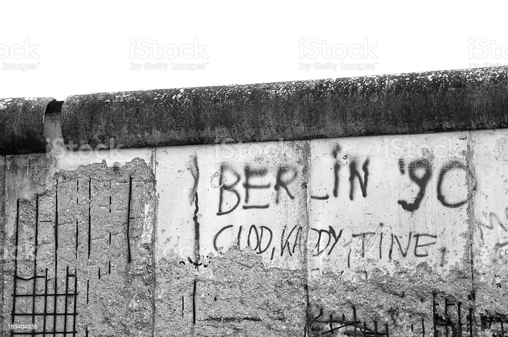 Berlin Wall Black and white royalty-free stock photo