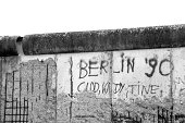 Berlin Wall Black and white