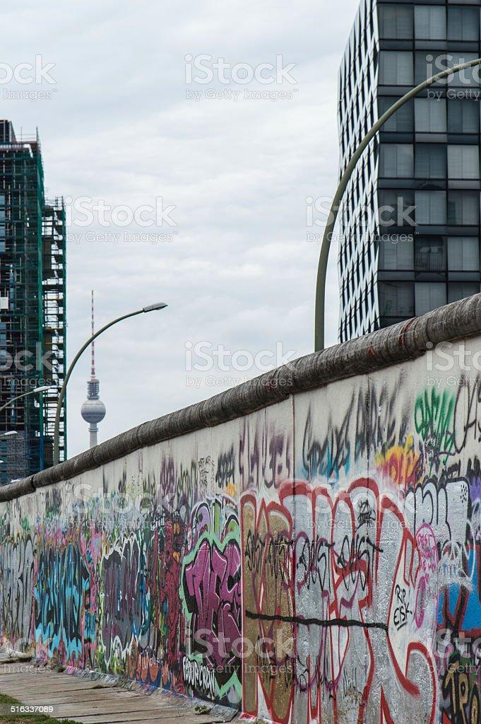 Berlin Wall Detail stock photo