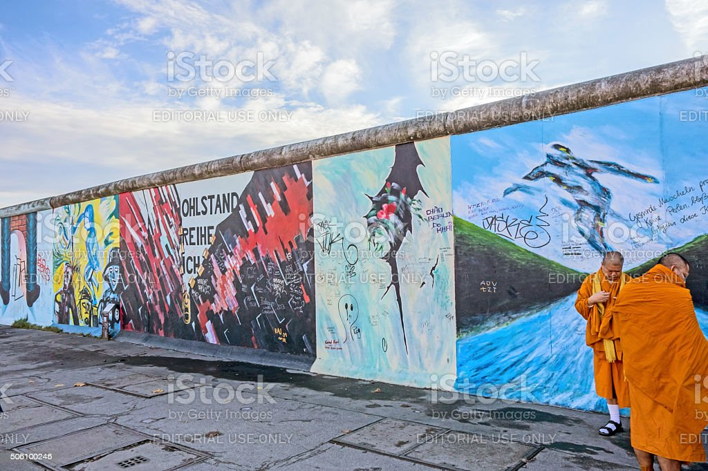 Berlin Wall - East Side Gallery stock photo