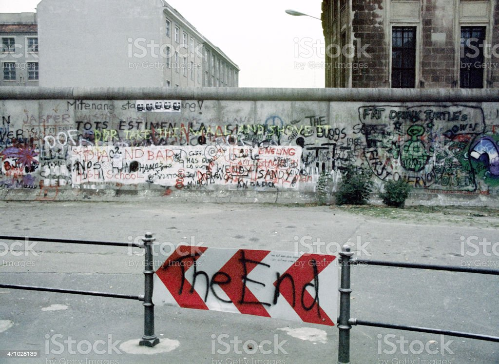 Berlin Wall Germany 1988 'The End' royalty-free stock photo
