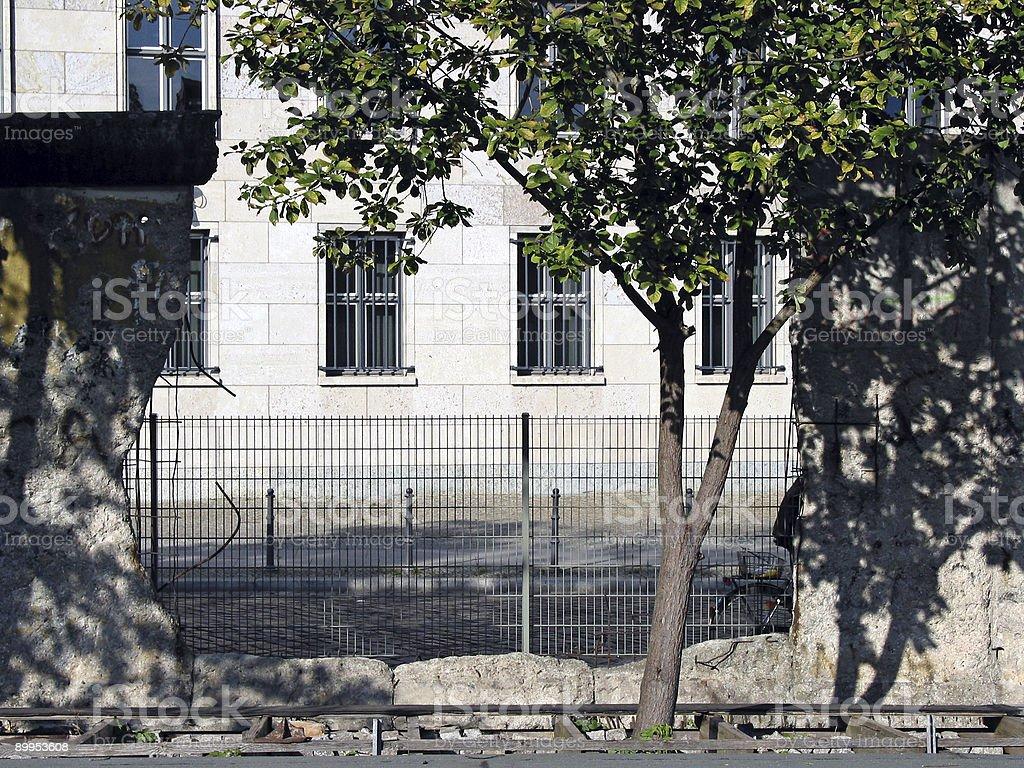 Berlin Wall Hole stock photo