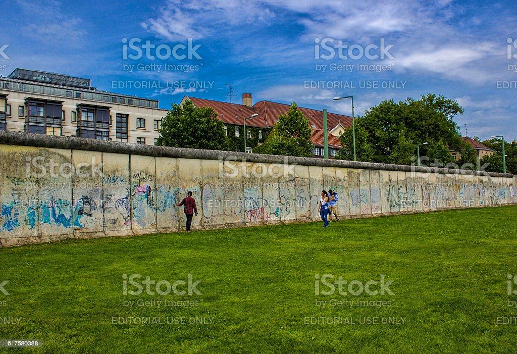 Berlin Wall in Berlin, Germany stock photo