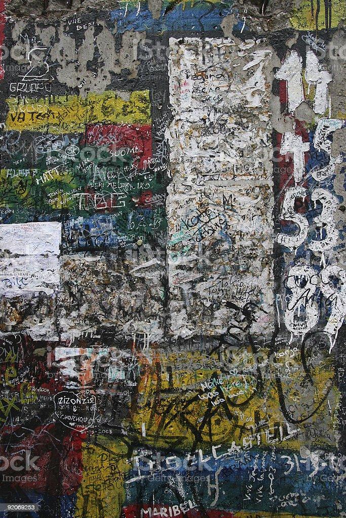 Berlin wall royalty-free stock photo
