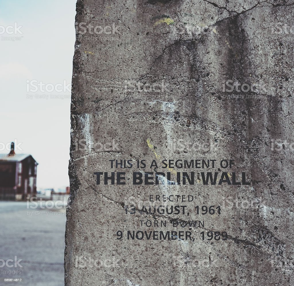Berlin Wall Segment stock photo