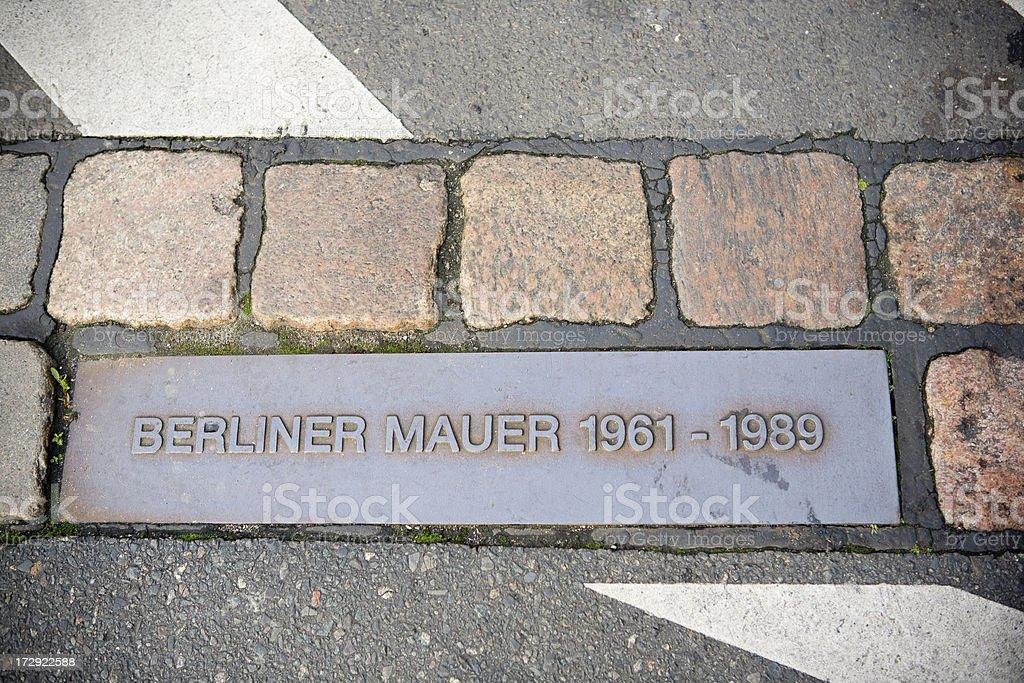 Berlin Wall sign stock photo