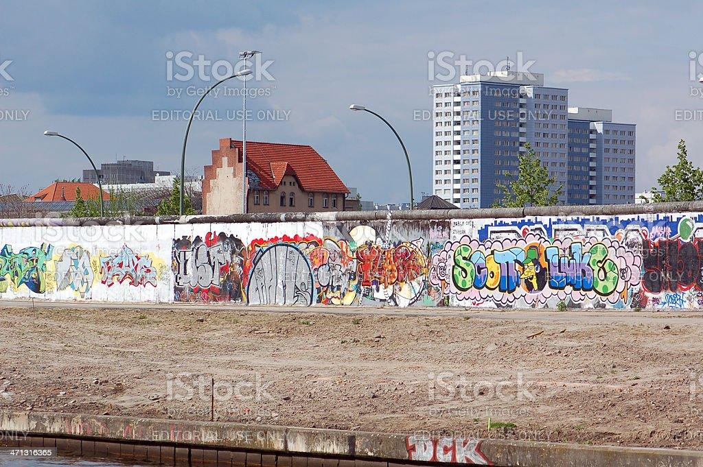 Berlin Wall with graffiti of The Simpsons (Germany) stock photo