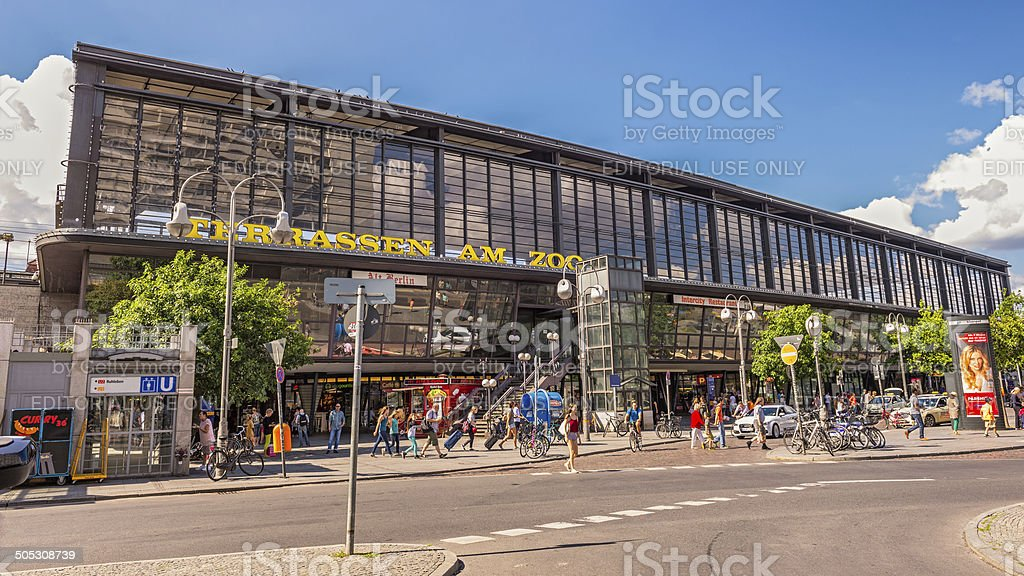 Berlin Zoologischer Garten railway station stock photo