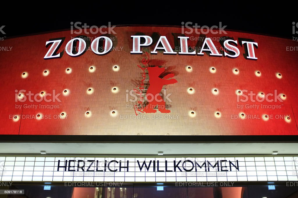 Berlinale 2016: Zoo Palast movie theatre ready for film festival stock photo