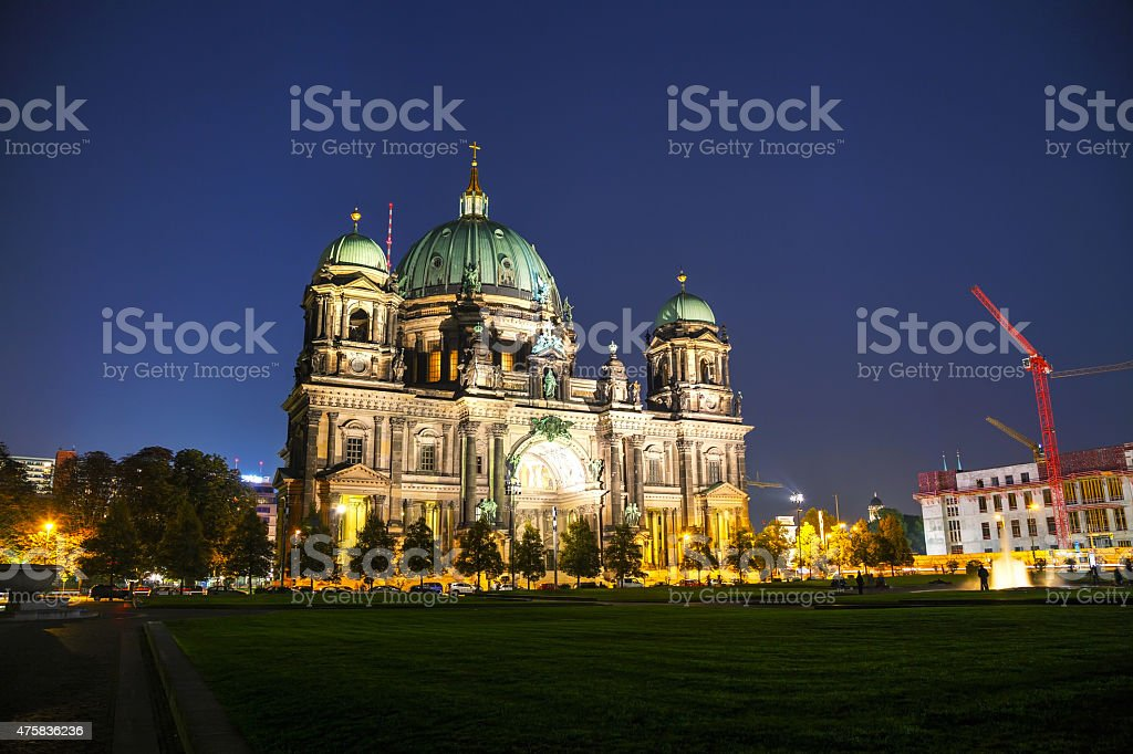 Berliner Dom overview stock photo
